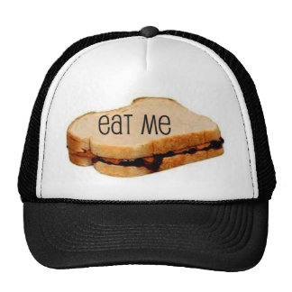 "Peanut Butter and Jelly ""EAT ME"" SANDWICH PRINT Trucker Hat"