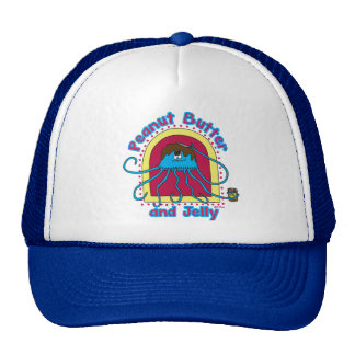 Peanut Butter and Jelly Fish Trucker Hat