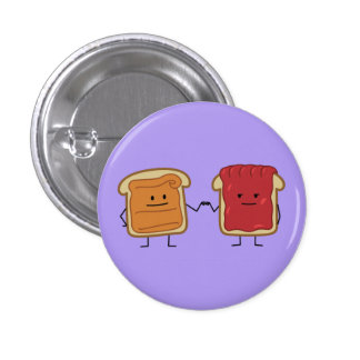 Peanut Butter and Jelly Fist Bump Button