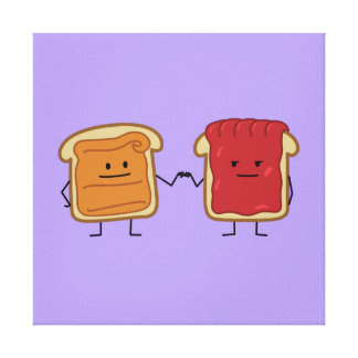 Peanut Butter and Jelly Fist Bump Canvas Print