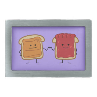 Peanut Butter and Jelly Fist Bump friends toast Belt Buckle