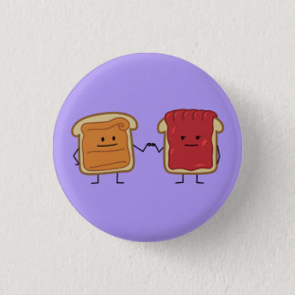 Peanut Butter and Jelly Fist Bump friends toast Button