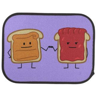 Peanut Butter and Jelly Fist Bump friends toast Car Floor Mat