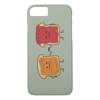Peanut Butter and Jelly Fist Bump friends toast iPhone 8/7 Case