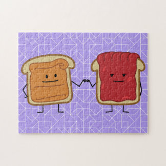 Peanut Butter and Jelly Fist Bump friends toast Jigsaw Puzzle