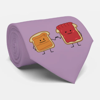 Peanut Butter and Jelly Fist Bump friends toast Tie