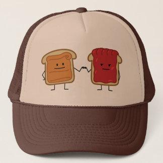 Peanut Butter and Jelly Fist Bump friends toast Trucker Hat