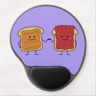 Peanut Butter and Jelly Fist Bump Gel Mouse Pad