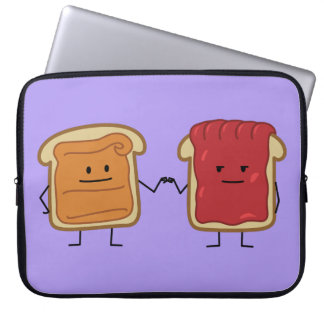 Peanut Butter and Jelly Fist Bump Laptop Sleeve
