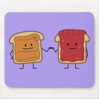 Peanut Butter and Jelly Fist Bump Mouse Pad