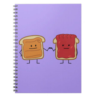 Peanut Butter and Jelly Fist Bump Note Book