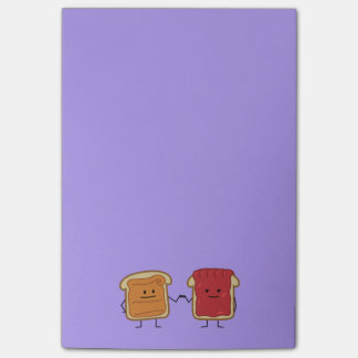 Peanut Butter and Jelly Fist Bump Post-it Notes