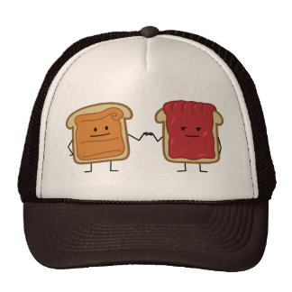Peanut Butter and Jelly Fist bump Trucker Hat