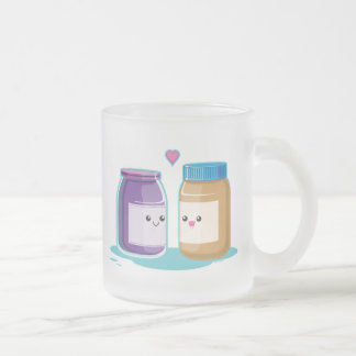 Peanut Butter and Jelly Frosted Glass Coffee Mug