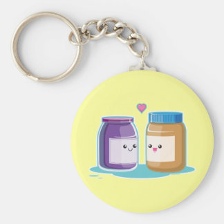 Peanut Butter and Jelly Key Chains
