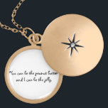 """Peanut Butter and Jelly Locket<br><div class=""""desc"""">A beautiful locket with an adorable,  heartwarming message inside: You can be the peanut butter to my jelly.  This could be a romantic gift for a girlfriend,  or a cute,  funny present for a best friend.</div>"""