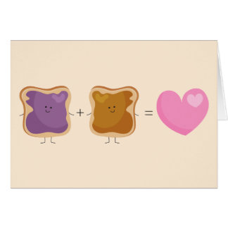 Peanut Butter and Jelly Love Card