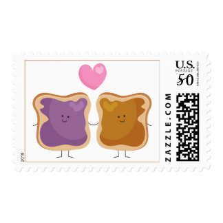 Peanut Butter and Jelly Love Postage Stamps