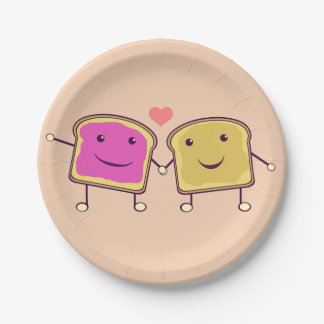 Peanut Butter and Jelly Pals Paper Plate