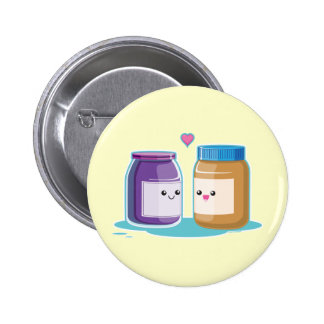 Peanut Butter and Jelly Pinback Button