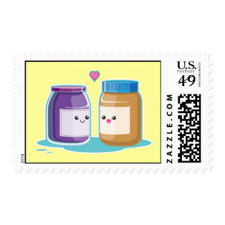 Peanut Butter and Jelly Postage Stamp