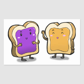 Peanut Butter and Jelly Rectangular Sticker