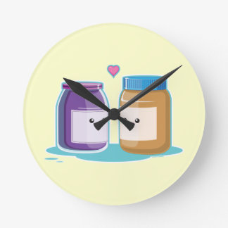 Peanut Butter and Jelly Round Clock