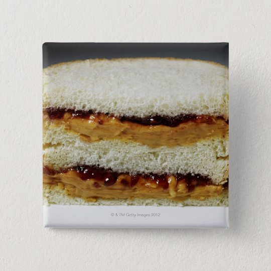 Peanut butter and jelly sandwich. button