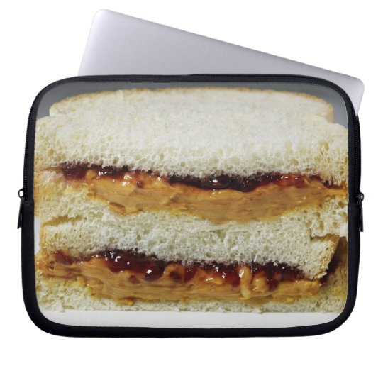 Peanut butter and jelly sandwich. computer sleeve