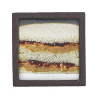 Peanut butter and jelly sandwich. gift box