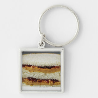 Peanut butter and jelly sandwich. keychain