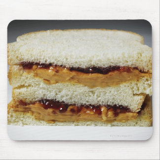 Peanut butter and jelly sandwich. mouse pad