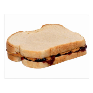 Peanut Butter and Jelly Sandwich Postcard