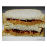 Peanut butter and jelly sandwich. poster