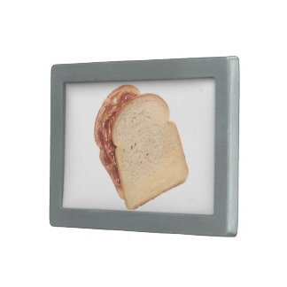 Peanut Butter and Jelly Sandwich Rectangular Belt Buckle