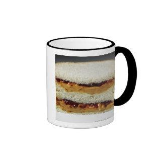 Peanut butter and jelly sandwich. ringer mug