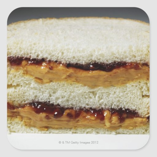 Peanut butter and jelly sandwich. stickers