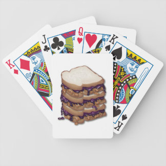 Peanut Butter and Jelly Sandwiches Bicycle Playing Cards