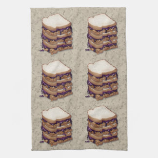 Peanut Butter and Jelly Sandwiches Hand Towels