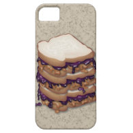 Peanut Butter and Jelly Sandwiches iPhone 5 Cases