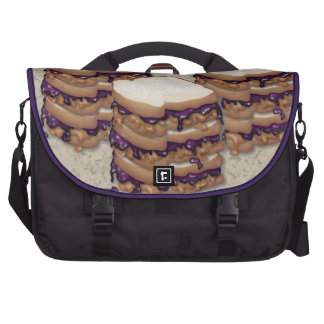 Peanut Butter and Jelly Sandwiches Laptop Commuter Bag