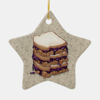 Peanut Butter and Jelly Sandwiches Ornament