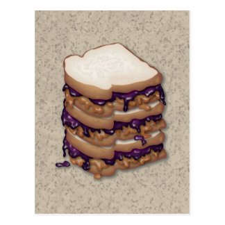 Peanut Butter and Jelly Sandwiches Postcard