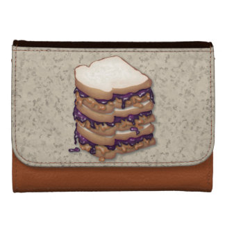 Peanut Butter and Jelly Sandwiches Wallet