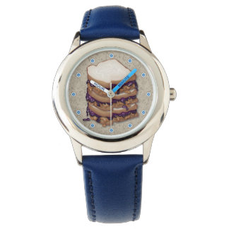 Peanut Butter and Jelly Sandwiches Wrist Watch