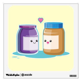 Peanut Butter and Jelly Wall Sticker