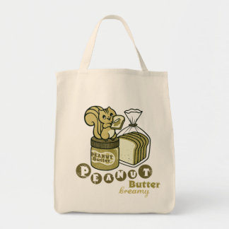peanut butter grocery tote bag