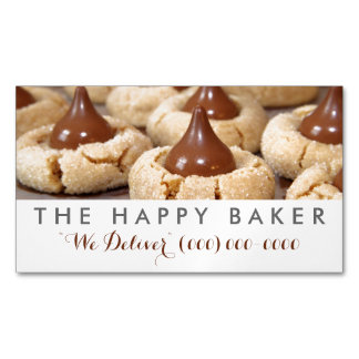 Peanut Butter Blossoms Magnetic Business Card