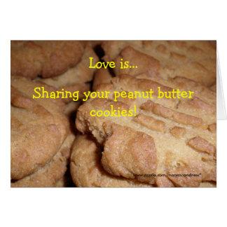 Peanut Butter Cookie Recipe Card