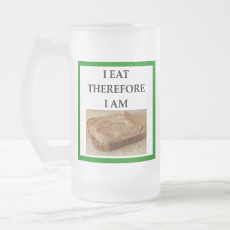 peanut butter frosted glass beer mug